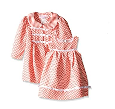 Amazon.com: Bonnie Baby Baby-Girls Check Dress and Coat Set: Clothing