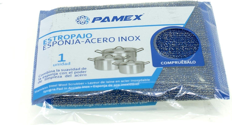 PAMEX Set 12 unit/és Tampon Recurer /Éponge et Acier INOX
