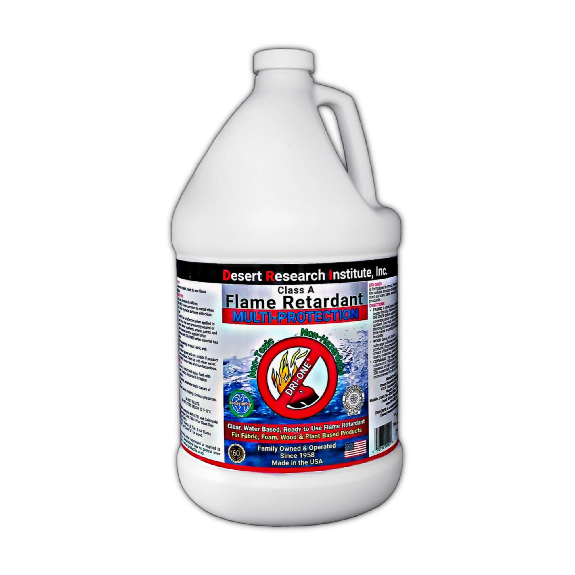 Fire Retardant Spray (Class A for Fabric, Wood, Theater Curtains & More) Eco-Safe, Non Toxic, C.A.C. Title-19, ASTM E84, DRI-ONE by Desert Research Institute, Inc. (1)