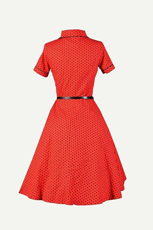 18f50c4a35f Robe Chic Vintage1950 s Rouge Pois Polka Swing Rockabilly pour femme -  Pentagramme - Miss Marylin  Amazon.fr  Vêtements et accessoires