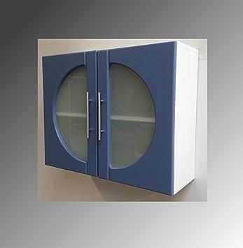 Badezimmer badezimmer weiß blau : Badmöbel Badezimmer Möbel Weiß Blau WBU Unterschrank Hänger Bad ...
