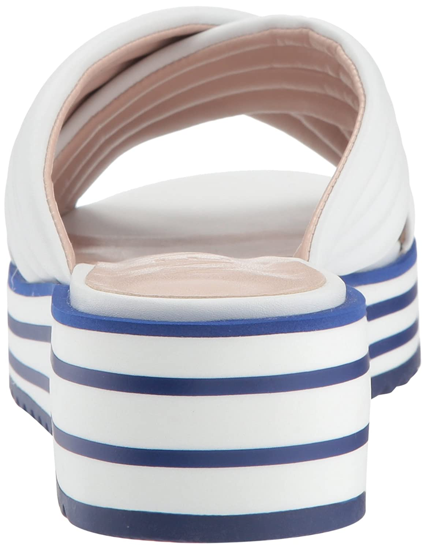 Nine West Women's Zonita Slide Sandal B07BMF33VQ 11 B(M) US|White