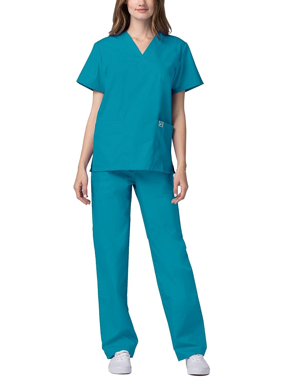 Adar Unisex-Schrubb-Set - Medizinische Uniform mit Oberteil und und und Hose B00GHULRLS Medizin Guter Markt 5c133d
