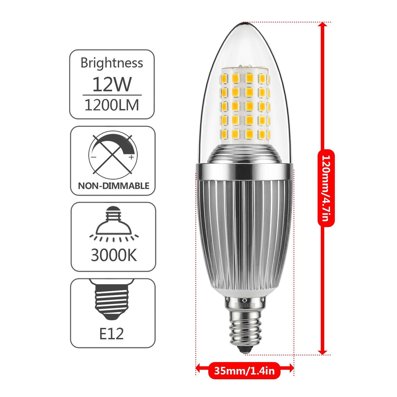 gezee led candelabra bulb non dimmable 100 watt light bulbs equivalent 12w 713425204105 ebay. Black Bedroom Furniture Sets. Home Design Ideas