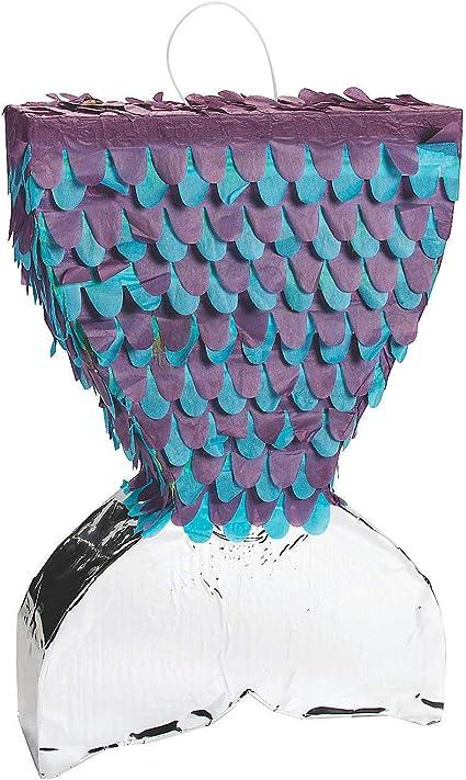 Amazon.com: Fun Express - Pinata de cola de sirena brillante ...