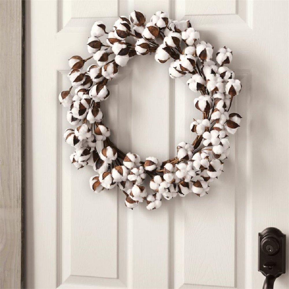 Mud Pie Cotton Wreath Home Accents