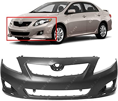 Front New Bumper Cover for Toyota Corolla TO1000343 2009 to 2010