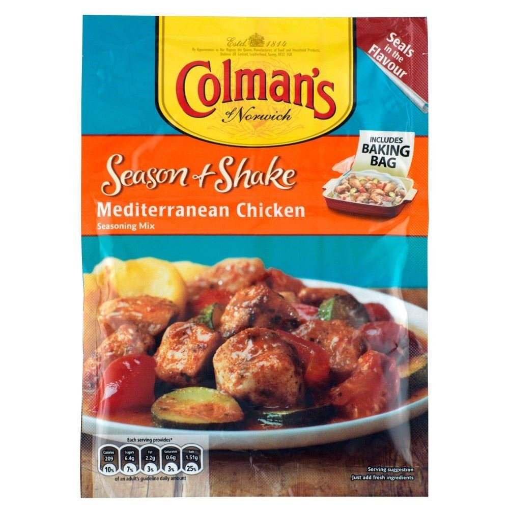 Colman's Season & Shake Mediterranean Chicken (33g) - Pack of 6 by Colman's