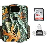 Browning Strike Force HD PRO X 2019 Trail Game Camera (20MP) with 32GB Memory Card and J-TECH iPhone/iPad/Android USB Memory Card Reader   BTC5HDPX