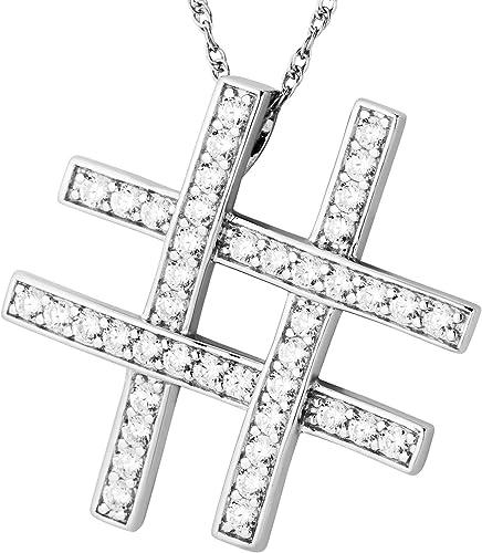 40 años cumpleaños {} CZ Cristal Piedra Colgante Plata Esterlina Caja de Regalo Gratis