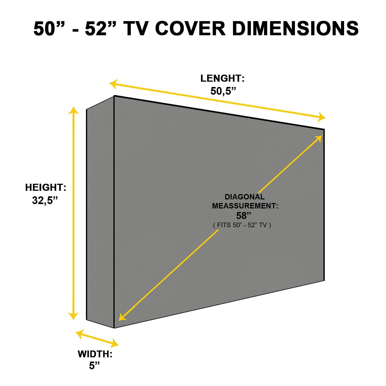 Outdoor TV Cover, Brown Universal Weatherproof Protector for 50'' - 52'' TV - Fits Most Mounts & Brackets by KHOMO GEAR (Image #3)