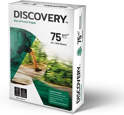 Discovery - Pack de 5 resmas de papel A4, color blanco (5 x 500 ...