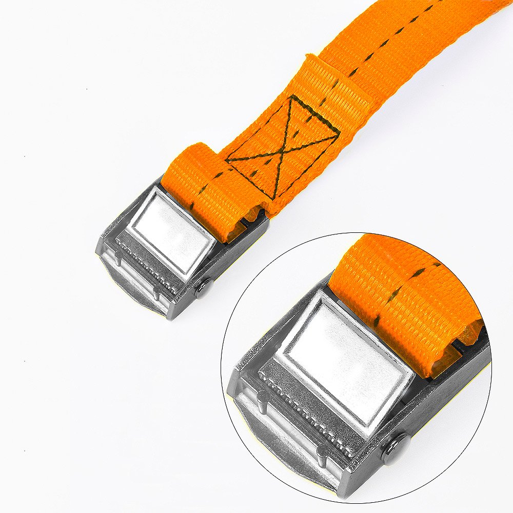 BlueCosto 1 x 8 Lashing Strap Tie Down Straps Blue Pack of 2 Rated 500 Lbs
