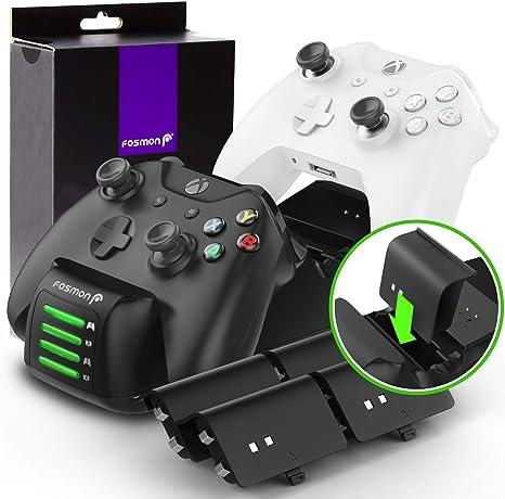 Amazon.com: Fosmon - Cargador de mando para Xbox One Quad ...