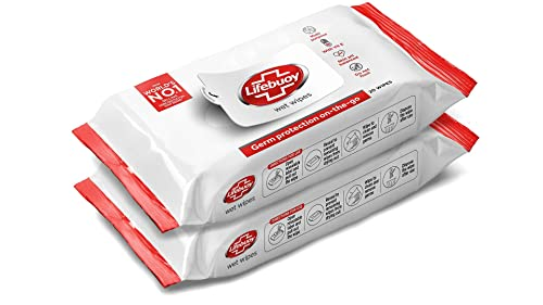 Lifebuoy Wet Wipes Germ Protection On the Go, 50 Wipes (Pack of 2)