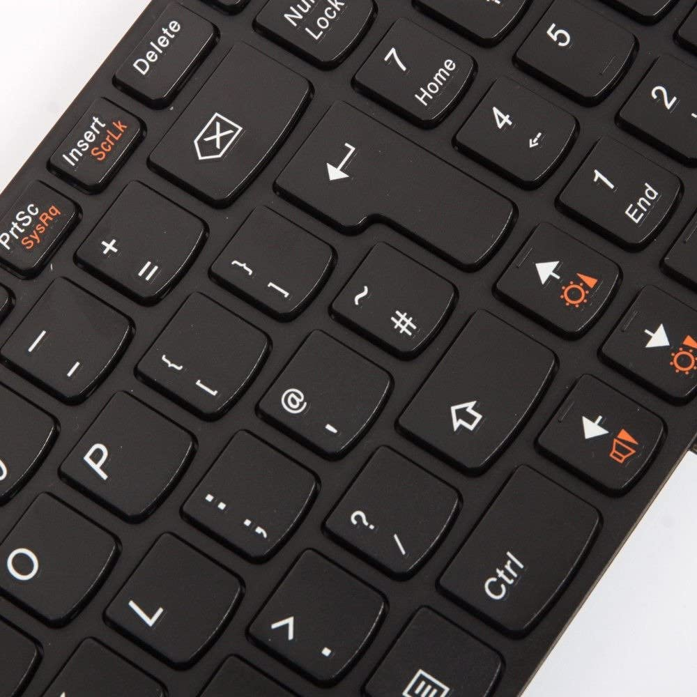 Laptop-Adapter UK Layout Keyboard for LENOVO IDEAPAD Z580 5934 Z580 59371483 Matte Black