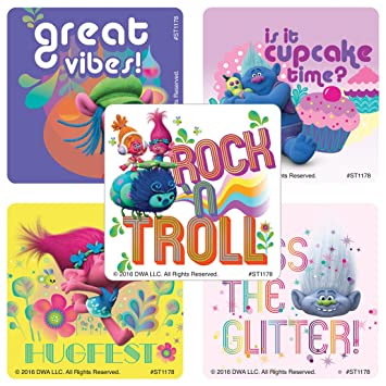 Dreamworks Trolls Stickers - Prizes and Giveaways - 100 per Pack - from  SmileMakers