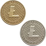 2 PCS Set of Gold and Silver Plated Litecoin Deluxe Collector's Set | Comes w/ a Plastic Round Display Case
