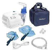 Omnibus BR-CN116 - Nuevo inhalador Aparato para inhalación de medicamentos líquidos con compresor Nebulizador (Blanco)
