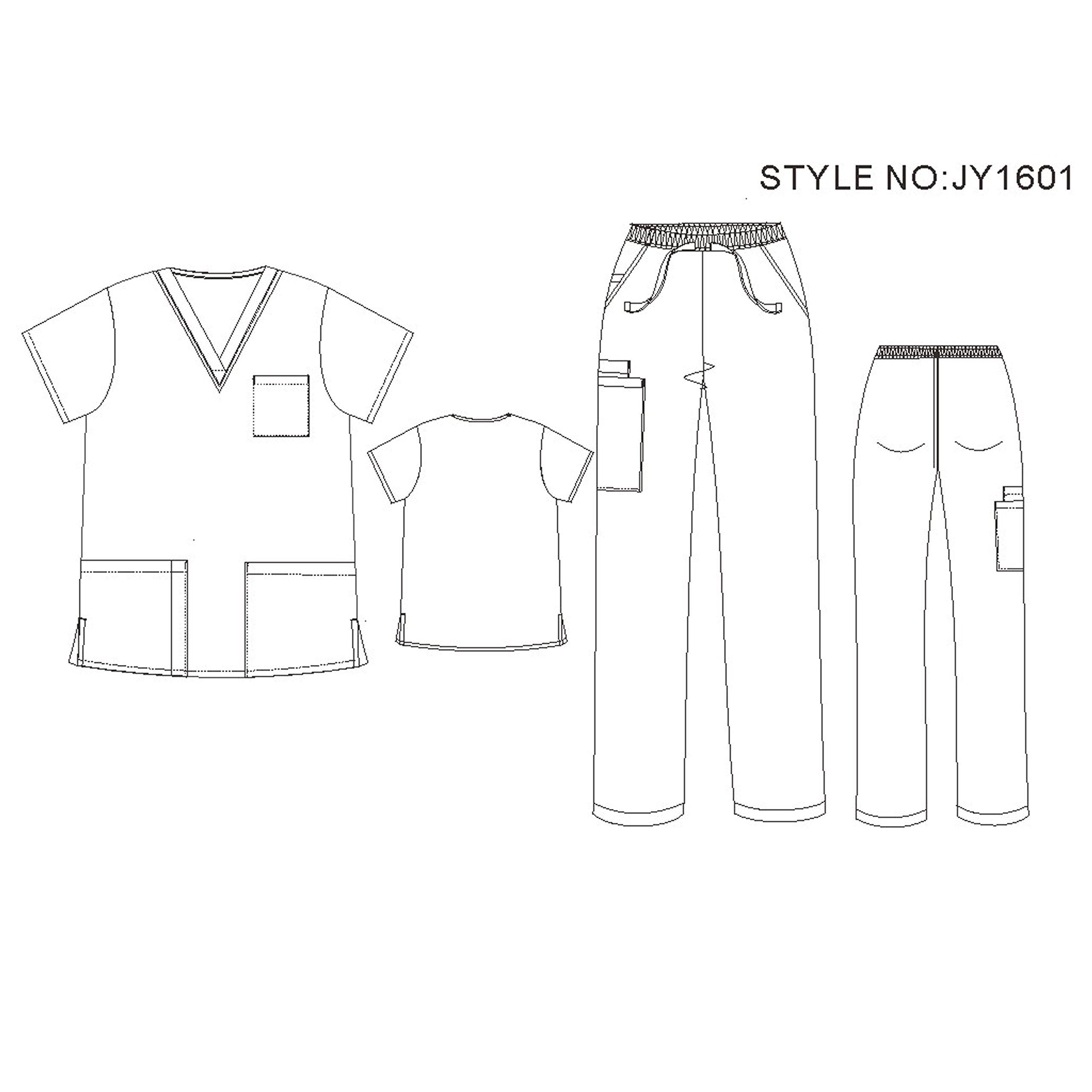 Unisex V Neck Scrubs Set Medical Uniform - Women and Man Nursing Scrubs Set Top and Pants Workwear JY1601 (CeilBlue, XL)