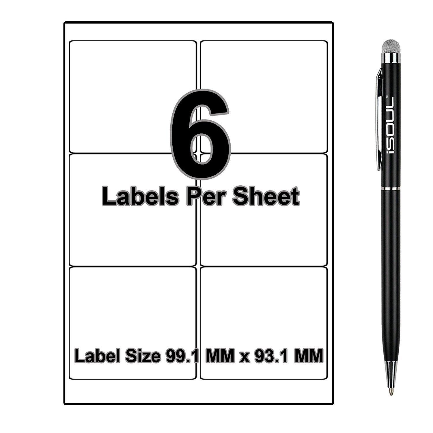 Printable with Laser Inkjet or Copier 101.6 x 50.8mm 10 Labels Per Sheet 20 Sheets Self-Adhesive A4 Addressing Shipping Stickers aLABELS4U/™ Product