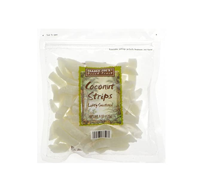 Amazon Com 3 Pack Trader Joe S Dried Fruit Coconut Strips Lightly Sweetened Grocery Gourmet Food