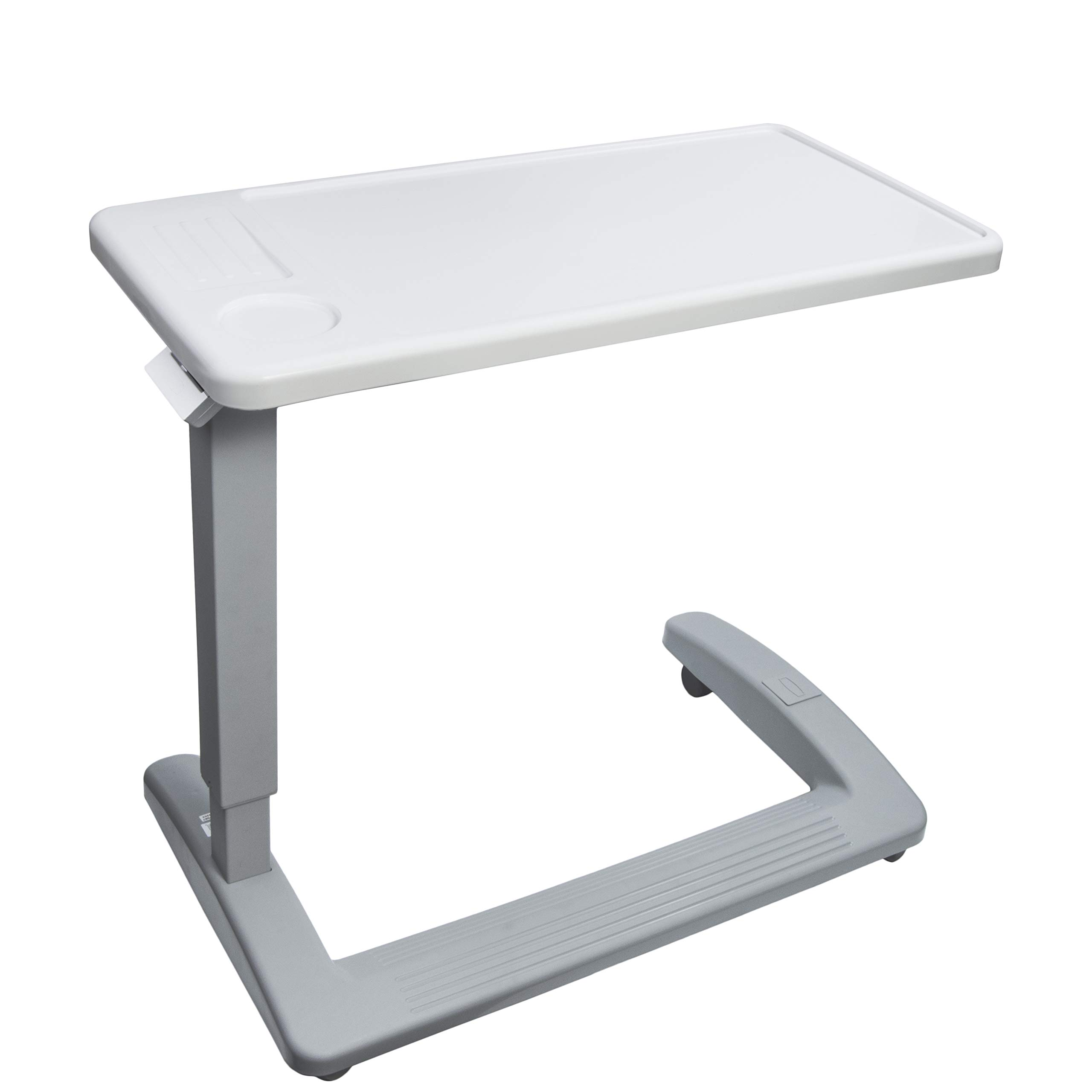 Vaunn Medical Deluxe Adjustable Overbed Bedside Table with Wheels (Hospital and Home Use) by Vaunn (Image #7)