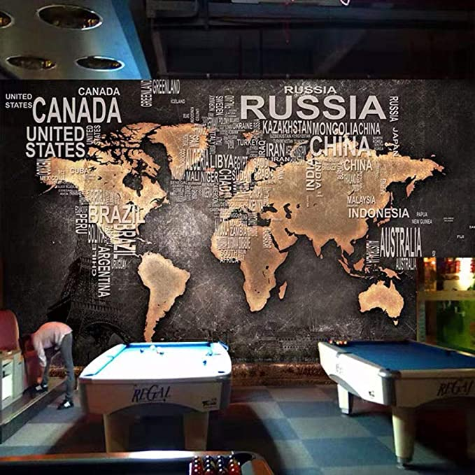 3D Mural Wallpaper Archaic World Map Photo Wall Painting ...