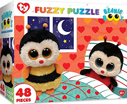 4df686d1838 Image Unavailable. Image not available for. Color  MasterPieces Ty Beanie  Boo Fuzzy of Snuggle Buddies - 48 Piece Kids Puzzle