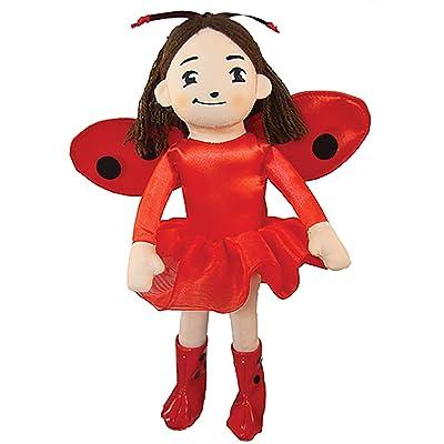 MerryMakers Ladybug Girl Plush Doll, 10-Inch: Soman, David, Davis, Jacky: Toys & Games