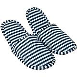 Comfysail Zapatillas de Plegables Pantuflas de Algodón Antideslizante de Hotel Zapatillas con Una Bolsa de Portable para…