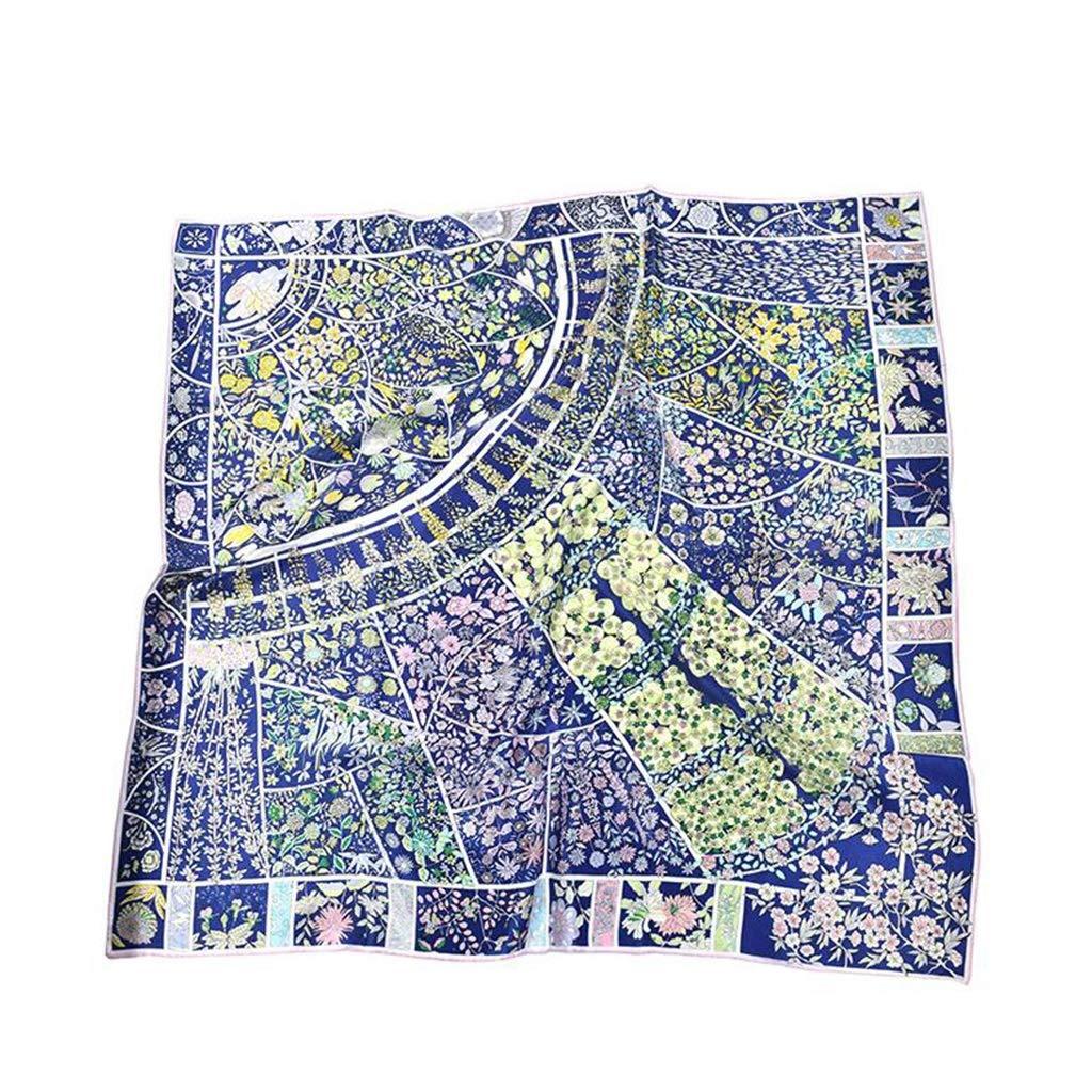 1 Square Silk Scarves Women Ladies , Satin Printed Scarf 4 colors,106cm106cm (color   3)