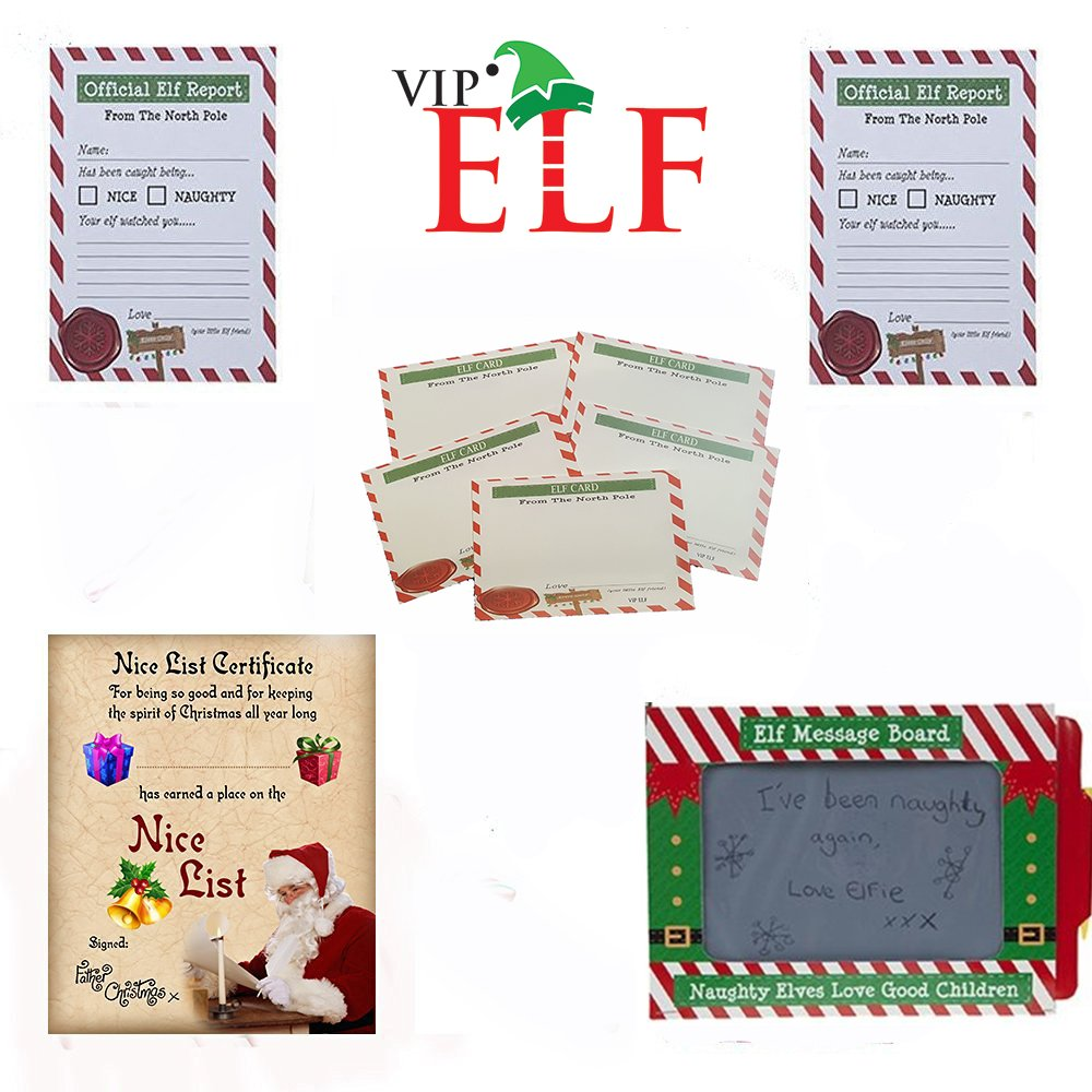 Christmas elf refill pack nice list certificate 24 reports christmas elf refill pack nice list certificate 24 reports reward cards scribbler amazon toys games xflitez Gallery
