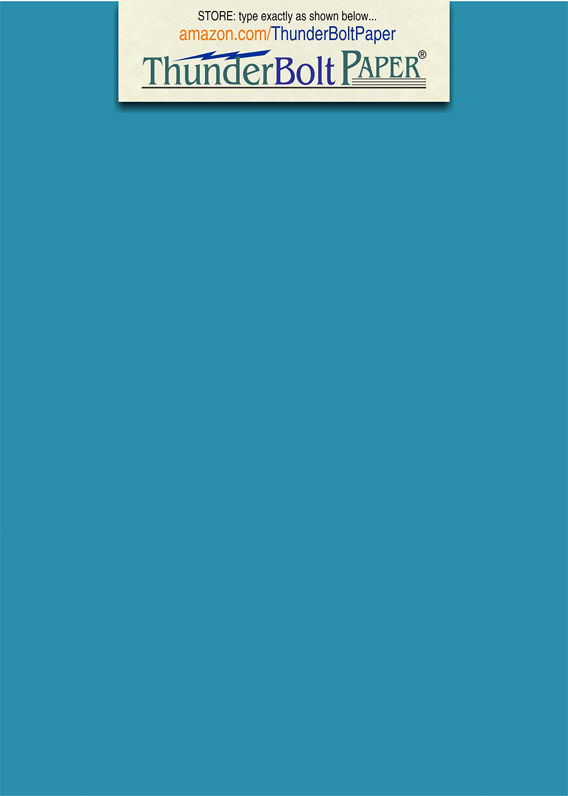 300 Bright Aqua Blue Color 65# Cover/Card Paper Sheets - 5.5 X 8.5 Inches Half Letter or Statement Size - 65 lb/pound Light Weight Cardstock - Smooth Surface