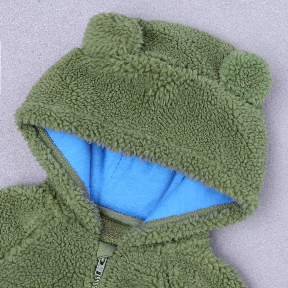 Amazon.com: Baby Ear Hooded Coat-Han Shi Print Zipper Pullover Tops ...