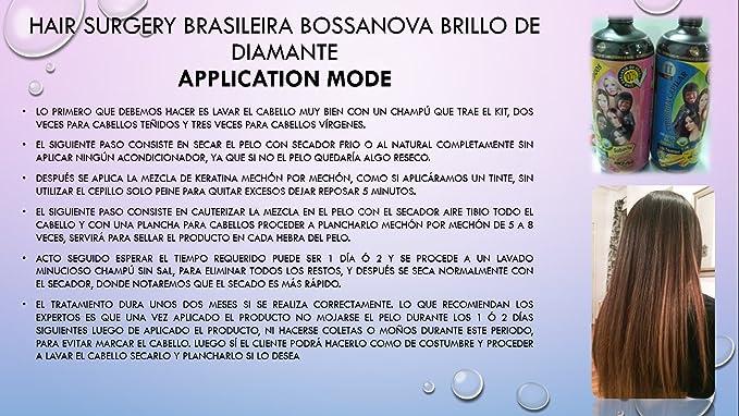 Amazon.com : CIRUGÍA CAPILAR Brazilian Bossanova Brillo de Diamante 1 Litro (Shampoo-Cirugía Capilar) : Everything Else