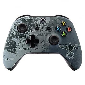 eXtremeRate Funda Delantera Carcasa Protectora de la Placa Frontal Cubierta Esmerilada Antideslizante para el Mando del Xbox One S y Xbox One X (Model ...