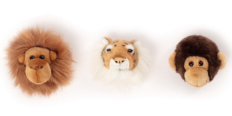 Wild & Soft Jungle Box con 3 trofeos de Tigre, AFFE, Orang-Uutan ...
