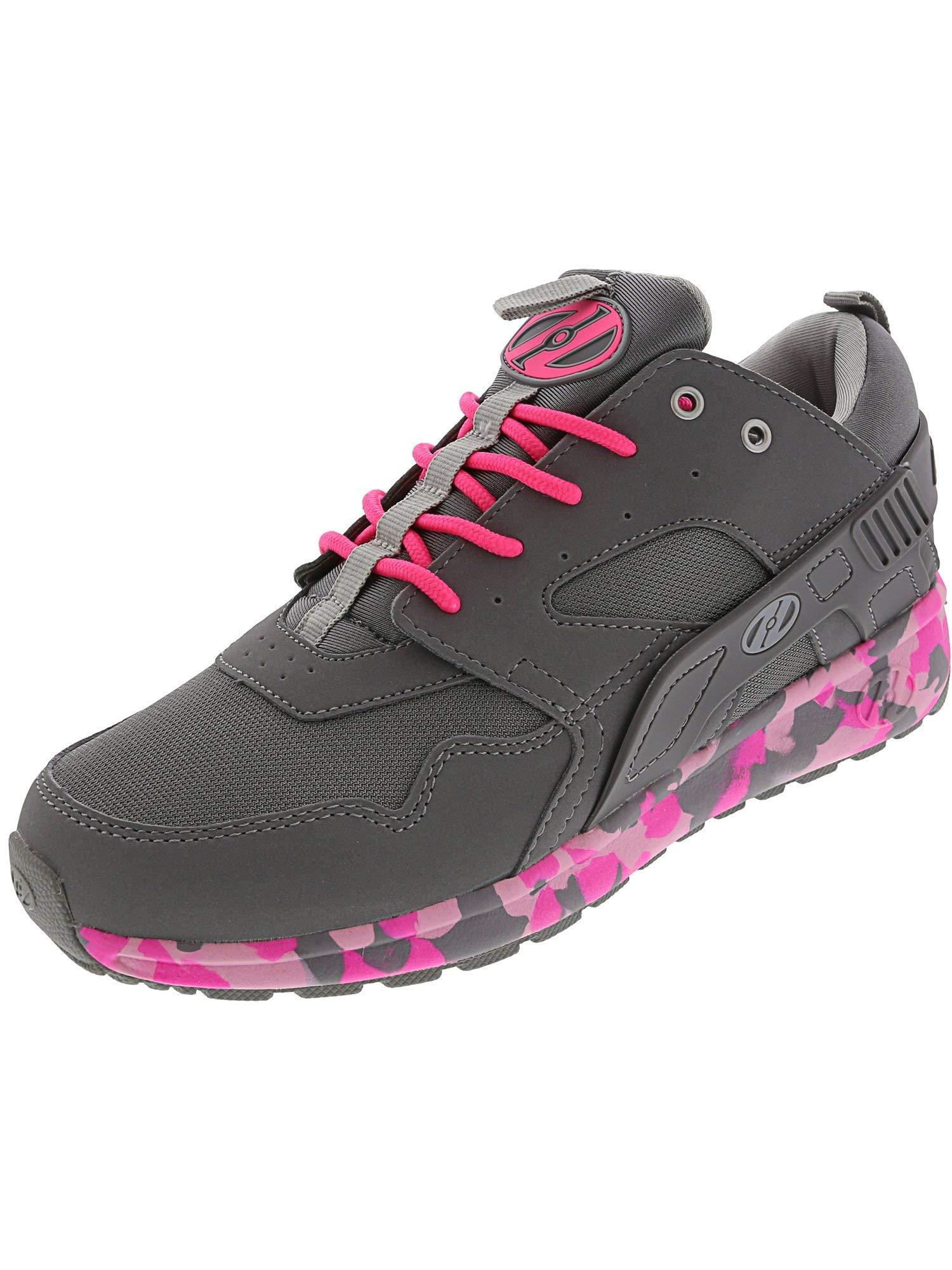 Heelys HE100098H Kid's Force Sneakers, Grey/Pink Confetti - 5