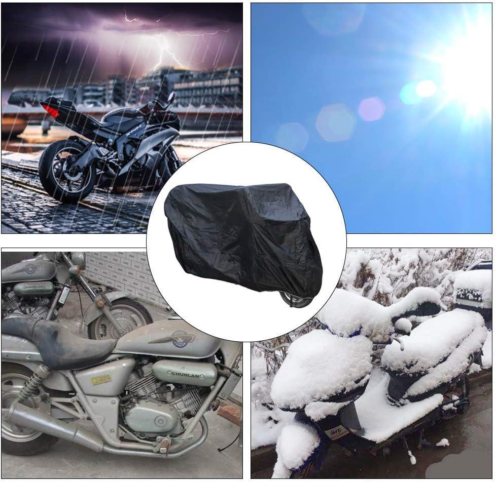 190T Wasserdicht Polyester Winterfest Outdoor//Indoor Motorrad Abdeckung Staubdicht Abdeckplane Schutzh/ülle,Schwarz,L STTC Motorroller Abdeckung