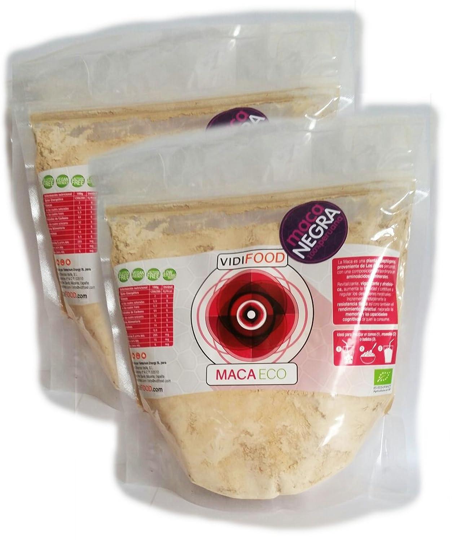 Maca Negra ECO en Polvo - 2kg - Fuente de Aminoácidos, Fibra y Vitaminas - Alta calidad - 100% Natural - Superalimento Saludable para Musculación, ...
