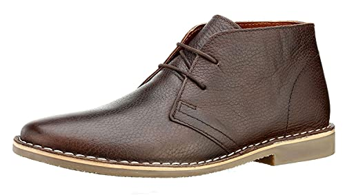34538c313a56b Red Tape Gobi Milled Leather Tan or Brown Mens Lace Desert Chelsea ...