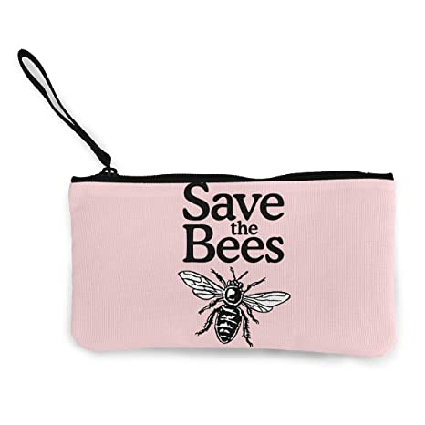 Serity Save The Bees - Monedero portátil de Lona con ...