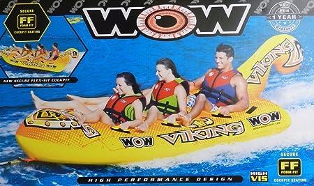Mundo de deportes acuáticos WOW 3-person hinchable Towable Viking ...