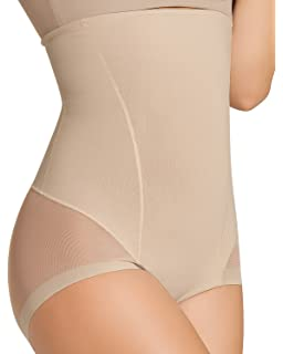 Leonisa Womens Invisible High Waist Firm Tummy Control Bodysuit Shaper