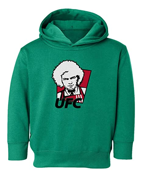 SMARTZONE Khabib Nurmagomedov Boxing Fighter Funny Little Kids Girls Boys  Toddler Hooded Sweatshirt (Green 0fab77f12