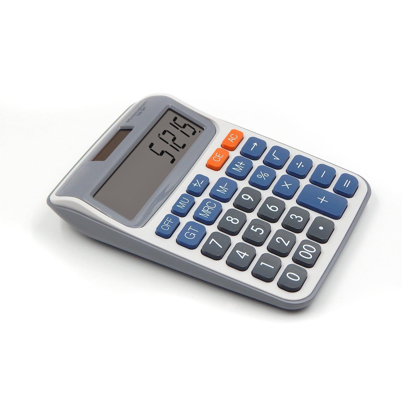 OFFDIX Office Desktop Calculator, Festivial Gift Solar Battery Dual Power Electronic Calculator Portable 12 Digit Large LCD Display Calculator OFFIDIX