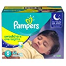 Pampers Swaddlers Overnights Disposable Diapers Size 6, 44 Count, Bulk Pack