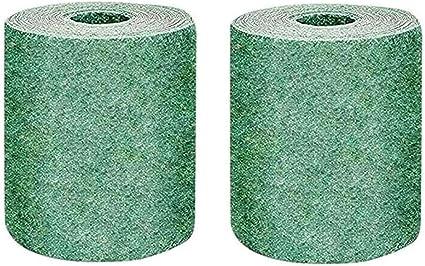 Alfombra de cultivo de hierba biodegradable Alfombra de semilla de hierba Fertilizante Jard/ín Picnic Jardiner/ía Alfombra de c/ésped 20 /× 300 cm 2 piezas Rollo de alfombra de semillas de hierba