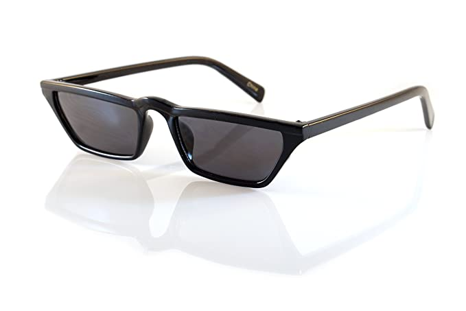 21a058be14ad FBL Extreme Wide Slim Flat Top Rectangular Cat-Eye Sunglasses A137 (All  Black)